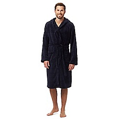 J by Jasper Conran - Big and tall navy hooded dressing gown