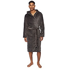 J by Jasper Conran - Big and tall grey hooded dressing gown