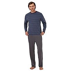 Maine New England - Blue striped print pyjama set