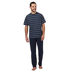 Maine New England - Big and tall navy striped pyjama set