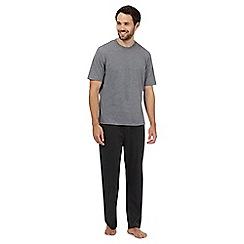 Maine New England - Big and tall grey pyjama t-shirt and navy bottoms set