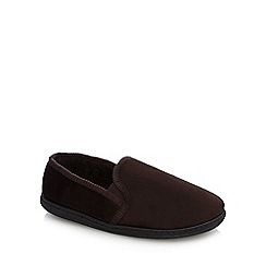 Maine New England - Brown fleece lined slippers