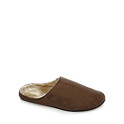 RJR.John Rocha - Brown fleece lined slippers