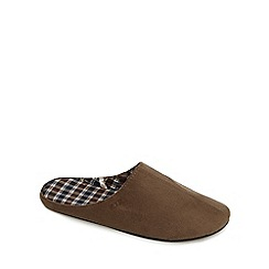 RJR.John Rocha - Tan microsuede cotton lined slippers
