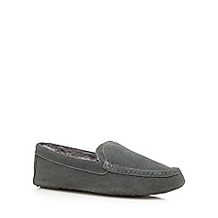 Hammond & Co. by Patrick Grant - Grey suede moccasin slippers