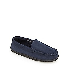 Maine New England - Navy moccasin slippers