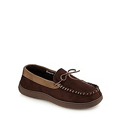 Maine New England - Brown moccasin slippers