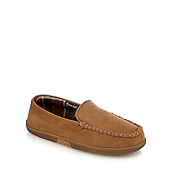 Maine New England - Tan moccasin slippers