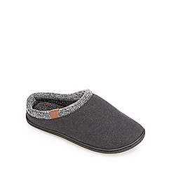 RJR.John Rocha - Grey knitted trim mule slippers