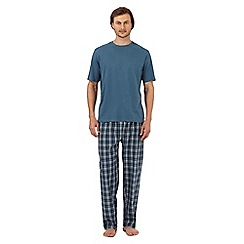 Maine New England - Turquoise checked loungewear set