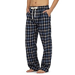 RJR.John Rocha - Big and tall navy herringbone checked pyjama bottoms