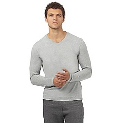 Red Herring - Grey long sleeve V neck t-shirt