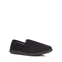 Maine New England - Black textured slip-on slippers