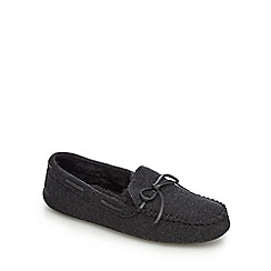Hammond & Co. by Patrick Grant - Dark grey wool moccasin slippers