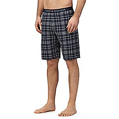 Tommy Hilfiger - Navy checked pyjama shorts