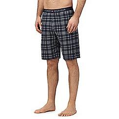 Tommy Hilfiger - Navy checked pyjama shorts