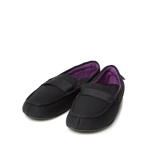 Totes - Black canvas moccasins