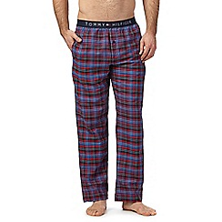 Tommy Hilfiger - Navy and red checked pyjama bottoms