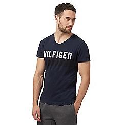 Tommy Hilfiger - Navy 'Hilfiger' slogan t-shirt