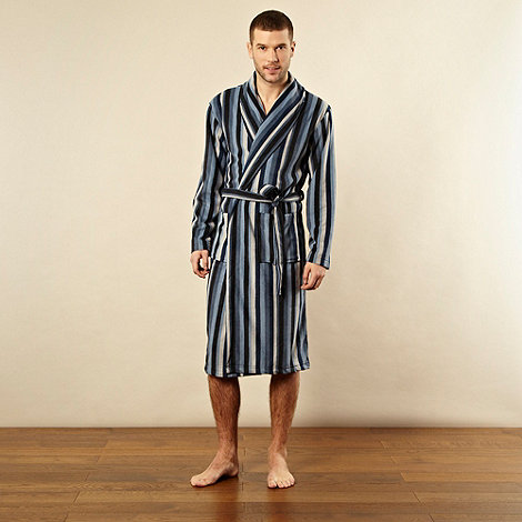 Maine New England - Blue striped fleece gown