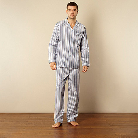 Maine New England - Blue tonal striped cotton pyjama set