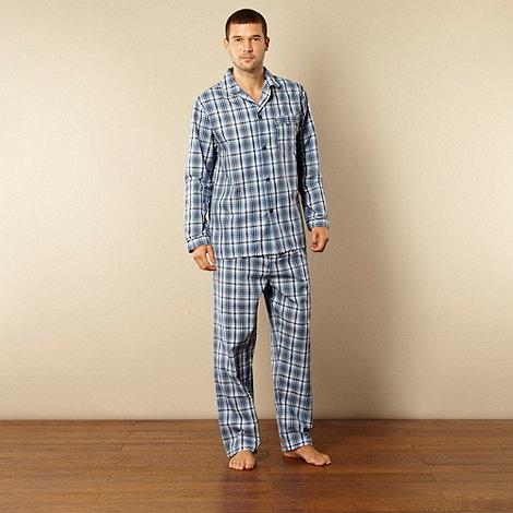 Maine New England - Blue checked cotton pyjama set