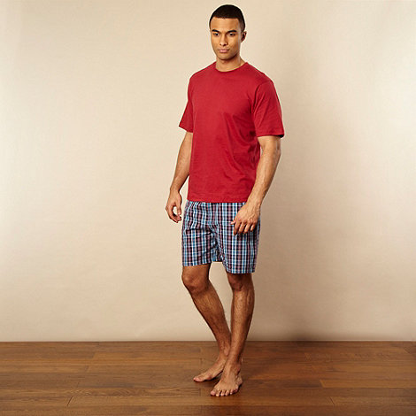 Maine New England - Red top and woven shorts set