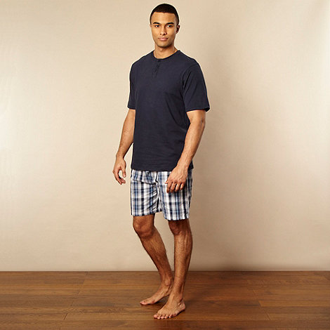 Maine New England - Navy top and woven shorts set