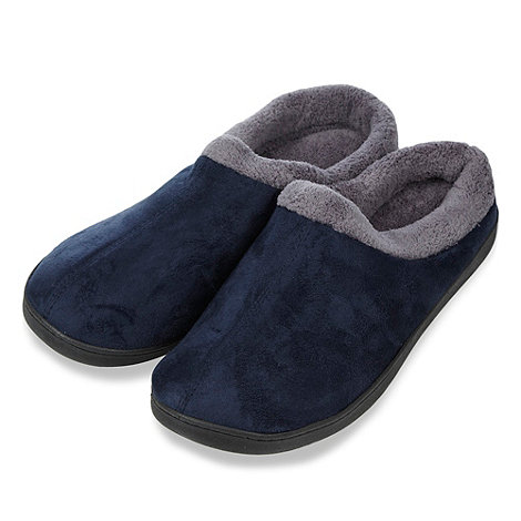 Maine New England - Dark blue mule slippers