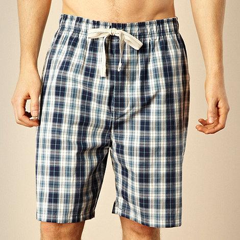 RJR.John Rocha - Designer navy checked pyjama shorts