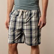 Designer purple checked pyjama shorts