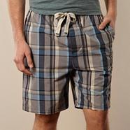 Designer blue checked shorts