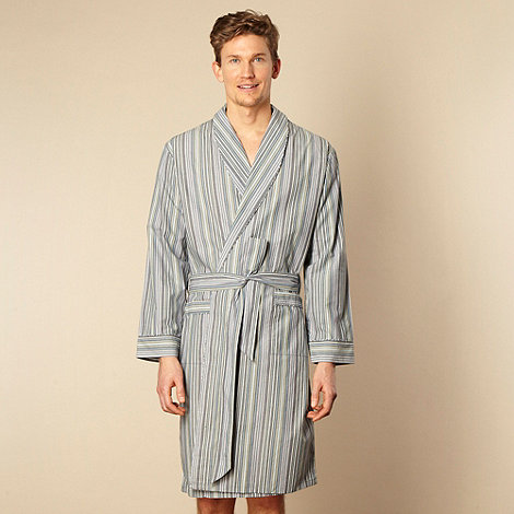 RJR.John Rocha - Designer blue fine striped cotton dressing gown