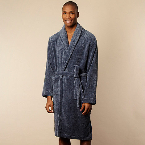 RJR.John Rocha - Designer blue marled fleece dressing gown