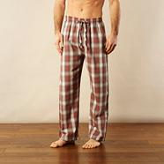Pack of two grey and red checked loungewear bottoms