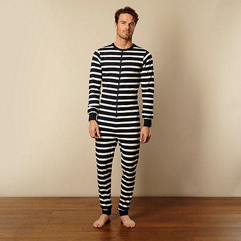 Mantaray - Navy striped onesie