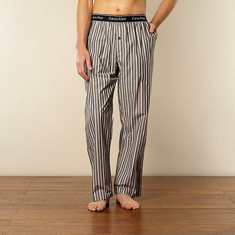 Calvin Klein - Grey striped woven pyjama bottoms