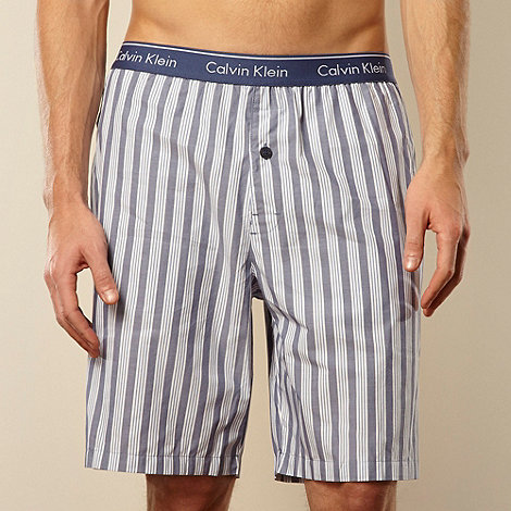 Calvin Klein - Blue striped pyjama shorts