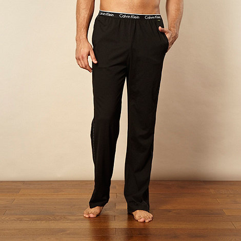 Calvin Klein - Black cotton stretch jersey bottoms
