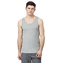 Red Herring - Grey ribbed vest