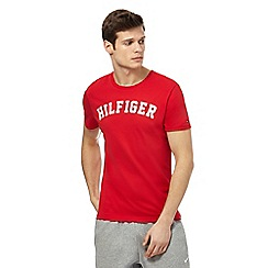 Tommy Hilfiger - Red logo print t-shirt