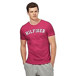 Tommy Hilfiger - Pink logo print t-shirt
