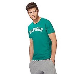 Tommy Hilfiger - Green logo print t-shirt