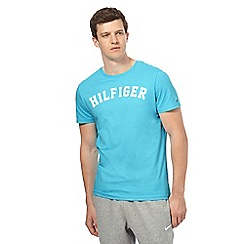 Tommy Hilfiger - Light blue logo print t-shirt