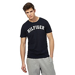 Tommy Hilfiger - Navy logo print t-shirt