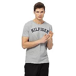 Tommy Hilfiger - Grey logo print t-shirt