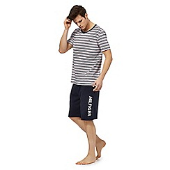 Tommy Hilfiger - Multi-coloured striped t-shirt and navy shorts pyjama set