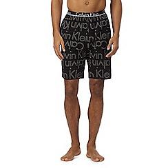 Calvin Klein - Black logo jersey shorts