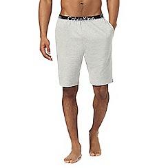 Calvin Klein - Grey logo print jersey shorts