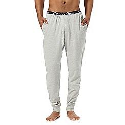 Calvin Klein - Grey logo print jersey bottoms